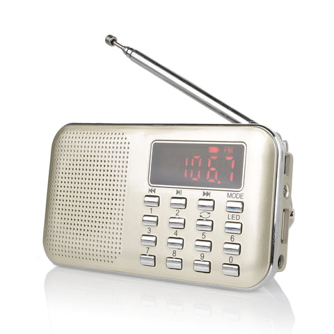 RF23 Pocket AM FM Radio Mp3 Audio Music Player - Radioddity