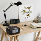 InstaBox W33 Wireless Charging Alarm Clock Radio Dual Speaker - Radioddity