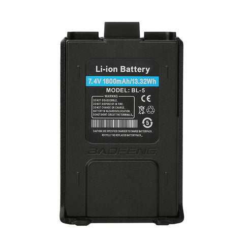 1800MAH Li-ion Battery for Baofeng UV-5R