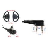 Radioddity D-Shape Earpiece PTT Mic for Baofeng Motorola TYT [DISCONTINUED] - Radioddity