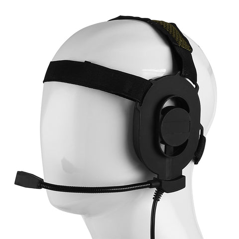 Z Tactical Bowman Elite II Headset w/ PTT for Kenwood 2 Pin Radio - Radioddity