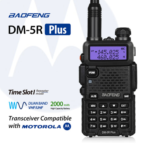 Baofeng DM-5R Plus Dual Band DMR Digital Two Way Radio