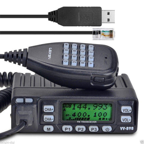 Leixen VV-898 Dual-Band Car Radio + Cable