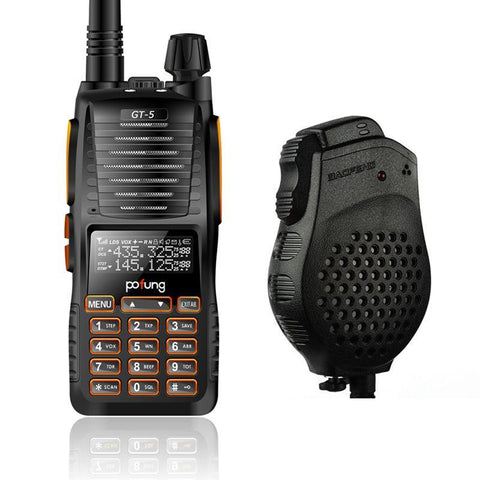 Baofeng GT-5 Dual Band Two-Way Radio + Speaker Mic