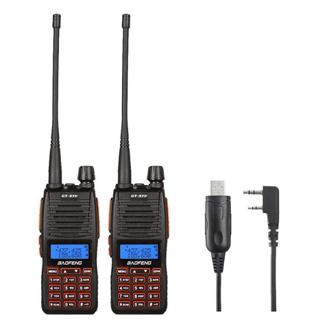 Baofeng GT-5TP Two-Way Radio [2 Packs] + Cable