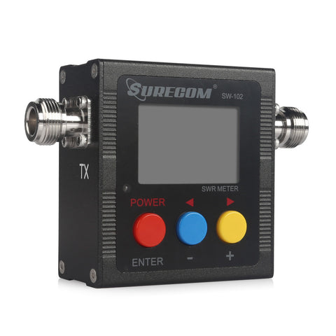 Surecom SW-102 Professional UV Dual Band LCD Digital SWR & Power Meter - Radioddity