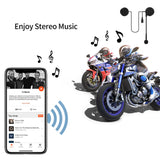 Radioddity L1M Wireless Hands-Free Motorcycle Helmet Headset Compatible with Bluetooth 4.0 - Radioddity