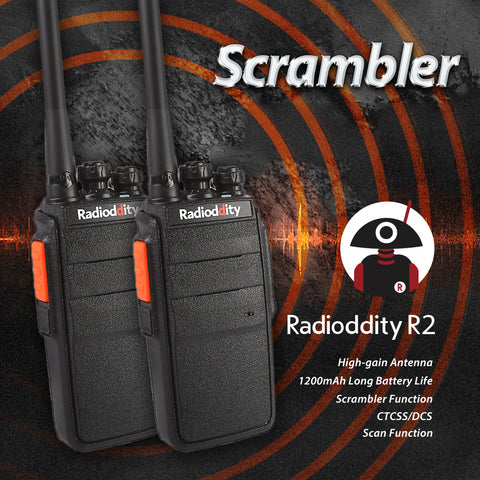 2 pcs x Radioddity R2 Two Way Radio