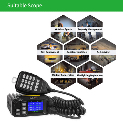 QB25 Quad Band Quad-standby Mini Mobile Radio+ Cable - Radioddity