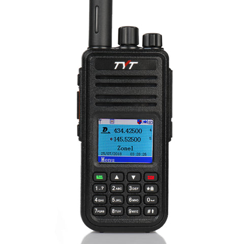 TYT MD-UV380G Dual Band DMR GPS Two Way Radio + Cable & Tube Earpiece - Radioddity