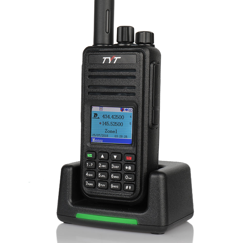 TYT MD-380G *GPS* DMR Two-way Radio UHF 400-480Mhz 2000mAh Cable /& Earpiece US