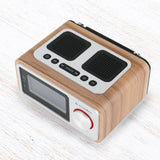 InstaBox i30 Wooden FM Clock Radio & Bluetooth Speaker
