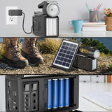 Raddy RF-L3 Portable Solar Generator | with Solar Panel | Flashlight  Music Player