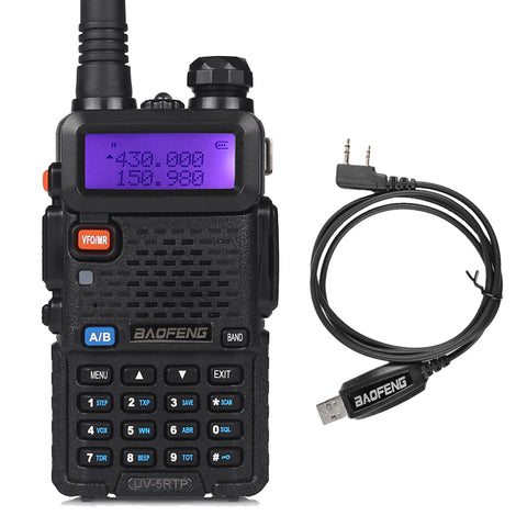 Baofeng UV-5RTP | Dual Band | 8W/4W/1W | Tri-power Two Way Radio | with Cable