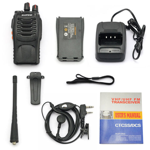 Baofeng BF-888S [6 Pack] | UHF |  5W | 16CH | CTCSS/DCS | Emergency Alarm | Flashlight - Radioddity