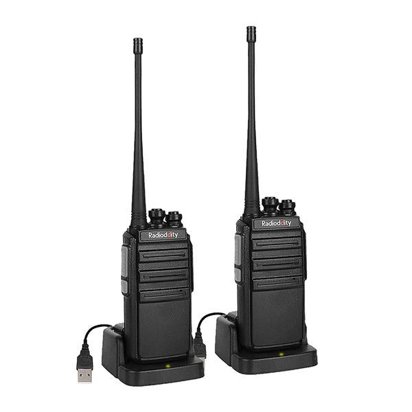 Air Acoustic Earpiece with Mic 6 Pack 1 Programming Cable Radioddity GA-2S Long Range Walkie Talkies UHF Two Way Radio for Hunting//Fishing//Camping//Security with Micro USB Charging
