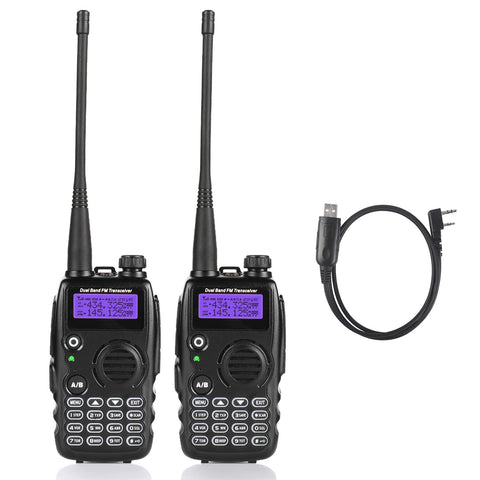 GA-5S Dual Band Tri-Power Two way Radio [2 Pack + 1 Cable]