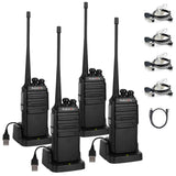 GA-2S UHF Long Range USB Two way Radio [2/4/6 Packs]