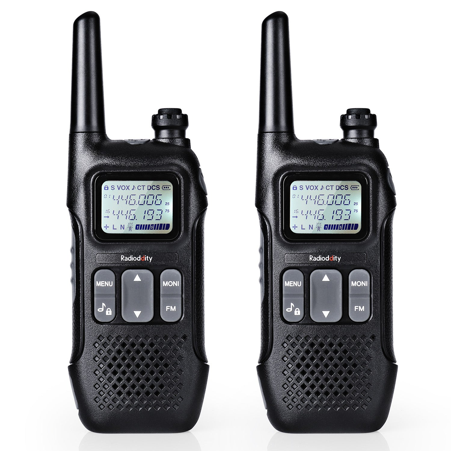 Radioddity FS-T1 / PR-T1 [1 Pair] | NOAA Weather Alert | License-free | USB Charging - Radioddity
