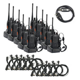 Baofeng BF-888S [10 Pack + 10 Acoustic Earpiece + Cable] - Radioddity