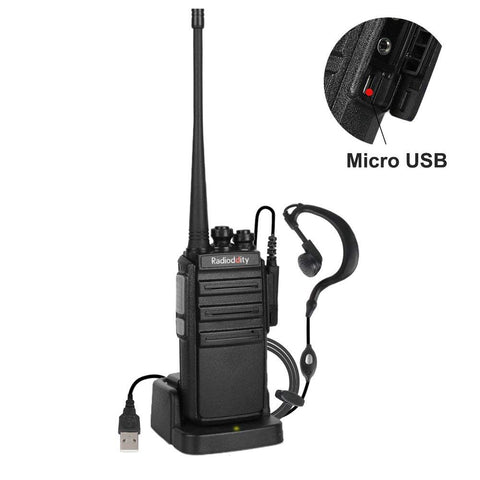 GA-2S UHF Long Range Two Way Radio Rechargeable VOX Walkie Talkies