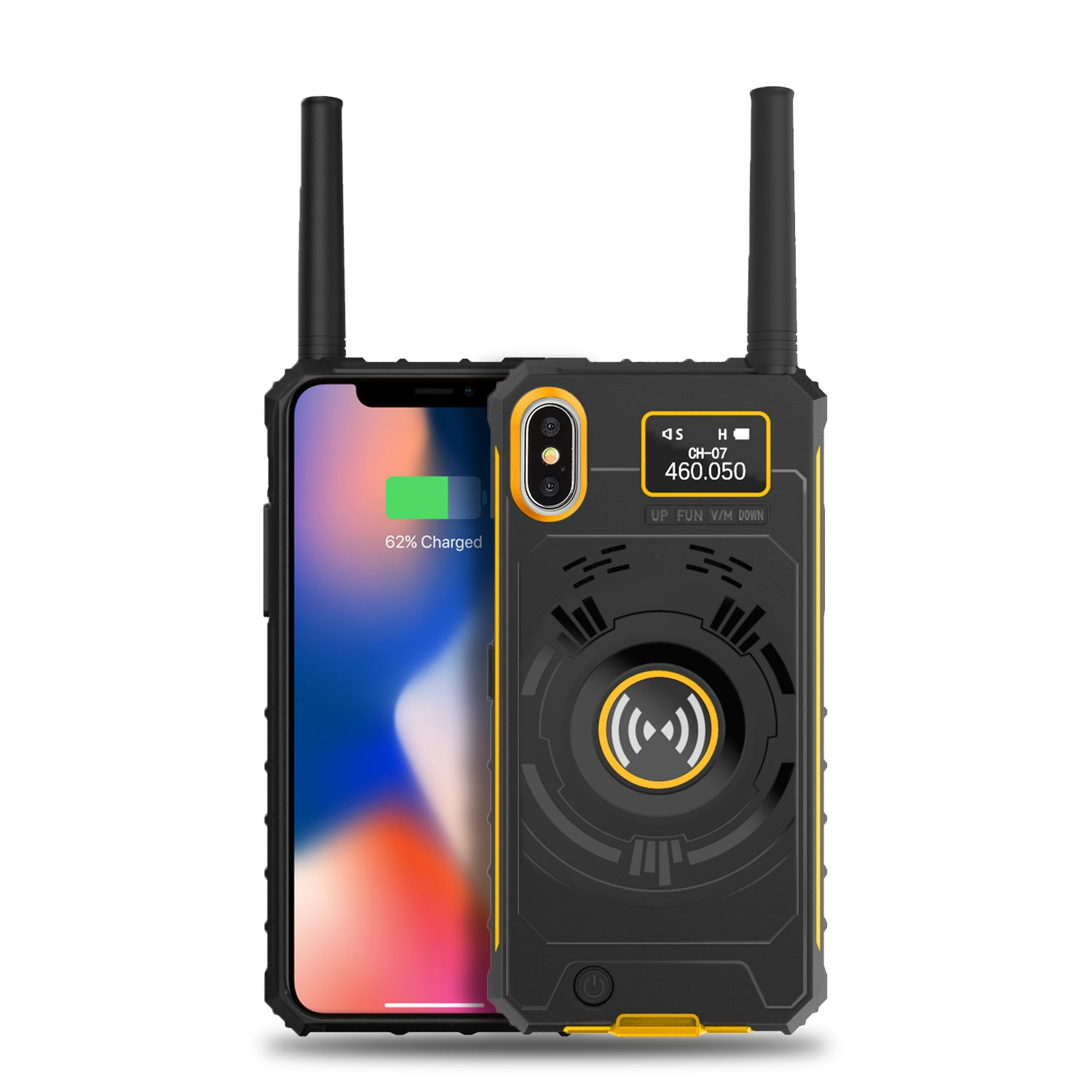 Radioddity Handheld UHF Radio | Extended Battery | Cell Phone Case for iPhone X/Xs - Radioddity