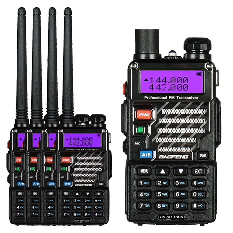 Baofeng UV-5R PLUS [5 Pack] | DUAL BAND | 4/1W | 128CH | FLASHLIGHT - Radioddity
