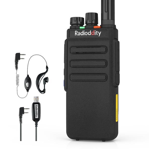 Radioddity GD-77S DMR | Dual Band | 5W | 2 Time-slot DMR | 2200mAh | with Cable - Radioddity