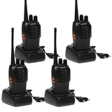 Baofeng BF-888S [4 Pack] | UHF |  5W | 16CH | CTCSS/DCS | Emergency Alarm | Flashlight - Radioddity
