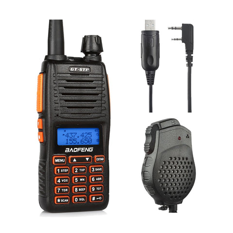 Baofeng GT-5TP Two-Way Radio + Programming Cable + Speaker