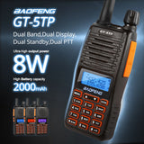 Baofeng GT-5TP | Dual Band | Tri-Power | Dual PTT | Up to 8W | 2000mAh - Radioddity