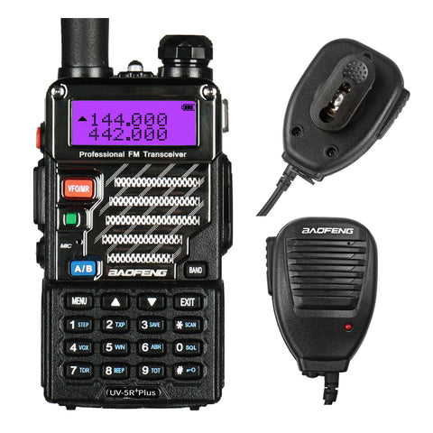 Baofeng UV-5R PLUS | DUAL BAND | 4/1W | 128CH | FLASHLIGHT | with Speaker Mic [DISCONTINUED] - Radioddity