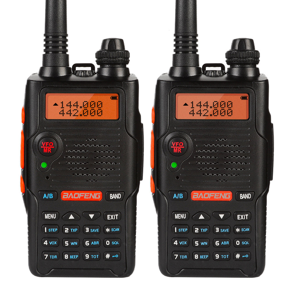 USA STORE 6x Speaker 6x Baofeng UV-5R VHF//UHF Dual-Band FM Two-way Ham Radio
