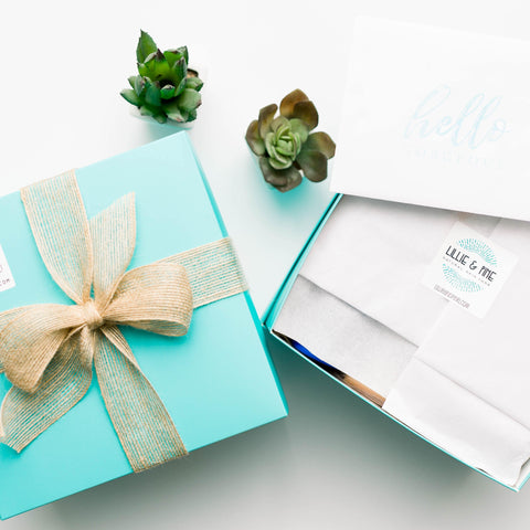 Gift Box, Tag + Ribbon