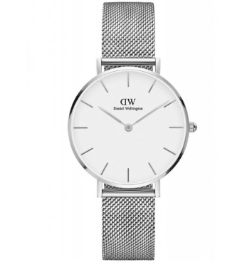 photos officielles 15a93 8c4cf Daniel Wellington - Classic Petite Sterling Montre Femme Quartz Bracelet  32MM