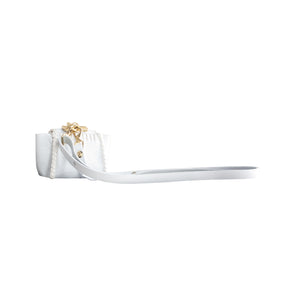 MICRO NELEPHANT in Ciervo White with Shoulder Strap