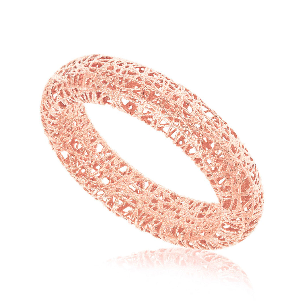 14K Rose Gold Wire Mesh Tube Style Ring – Jewelry Wiz