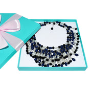 Holly Gift Boxed Fringe Oversized Costume Jewelry Set Inspired By Breakfast At Tiffany's