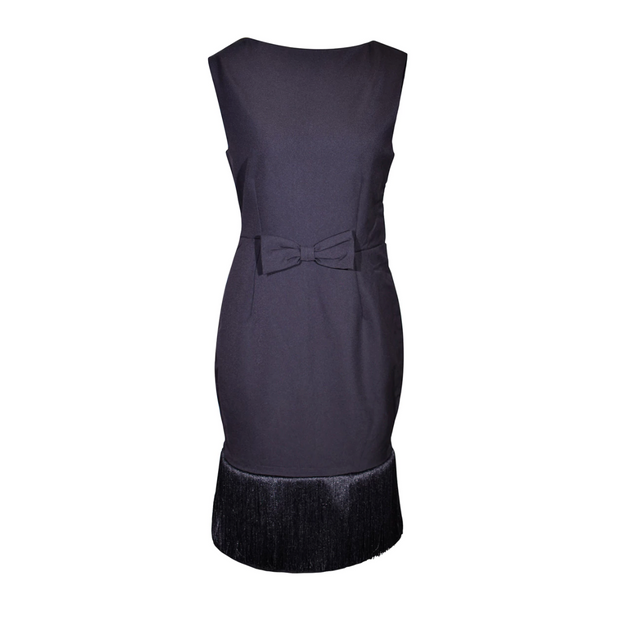 Holly Black Fringe Dress - Breakfast At Tiffany's