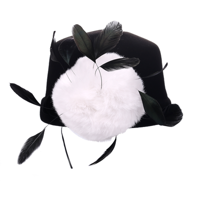 Audrey Hepburn Inspired Feather Hat - Utopiat