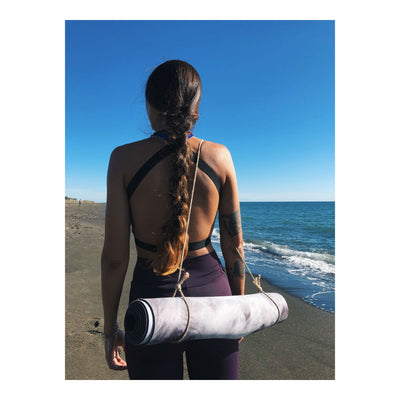 The Rustic Minimal Hemp Yoga Mat Strap - Utopiat