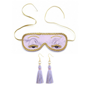 Holly Eye Mask & Earring Set Inspired By Breakfast At Tiffany's