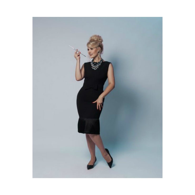 Holly Black Fringe Dress & Jewelry Set - Breakfast At Tiffany's