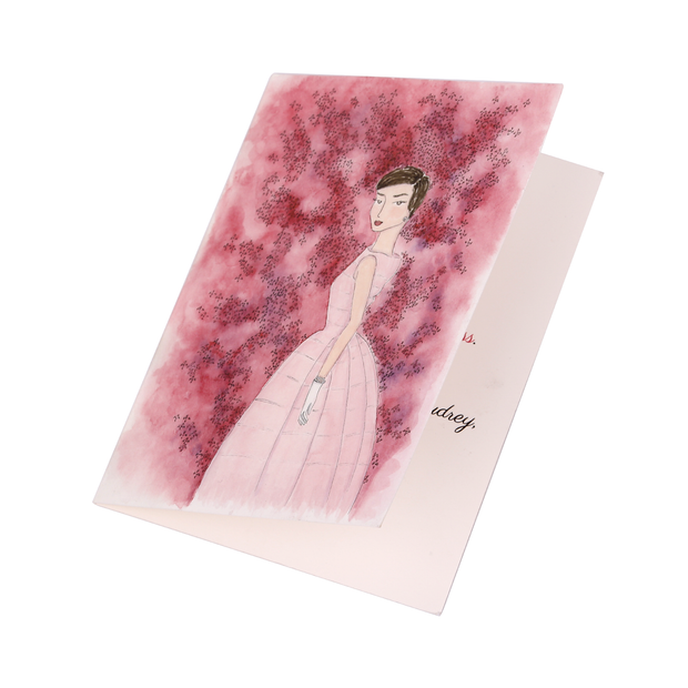 Audrey + the Azalea Hand Illustrated Greeting Card - Utopiat