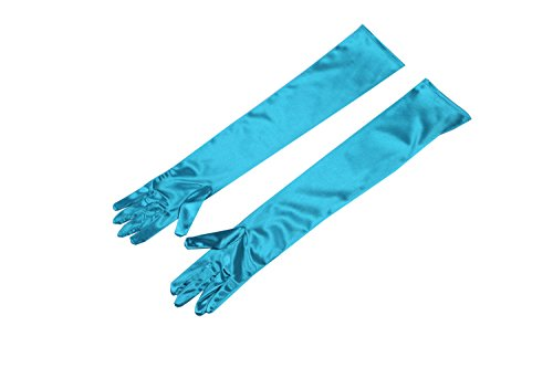 Premium Long Gloves In Colorful Satin Inspired By Audrey Hepburn