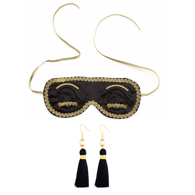 Holly Eye Mask & Earring Set Inspired By Breakfast At Tiffany's - Utopiat