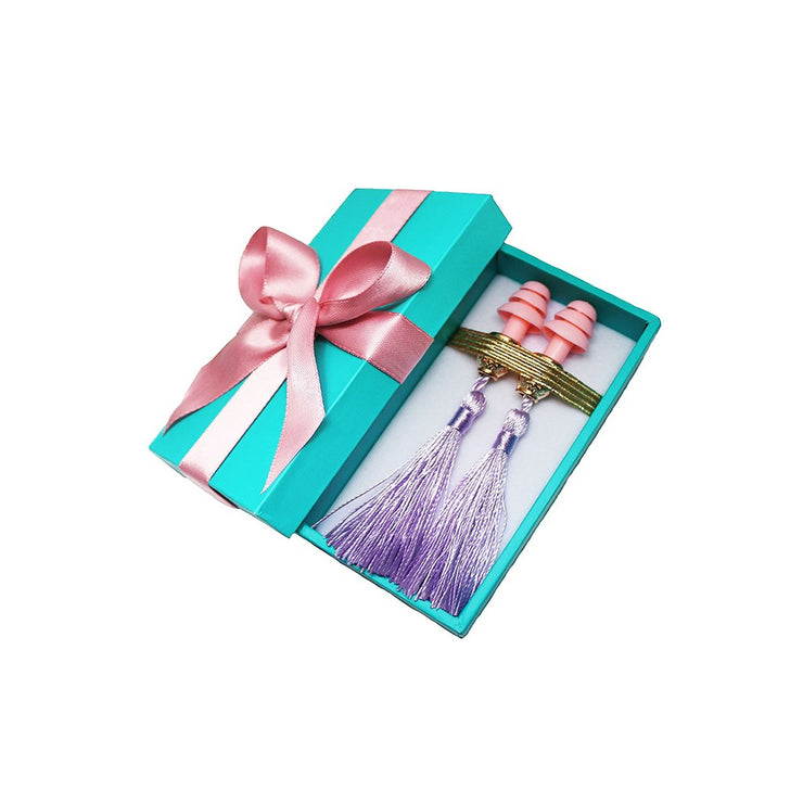 Breakfast at Tiffany's - Holly Gift Boxed Tassel Ear Plugs in Technicolors