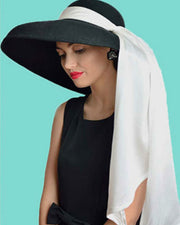 Holly Oversized Wool Hat & Fringe Dress Costume Set Inspired By Breakfast At Tiffany's