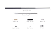 Long Extendable Functional Slim Cigarette Holder with Natural Filter Stone | Detachable for Cleaning | Fits Virginia Slim and other hand rolled 23mm Cigarettes