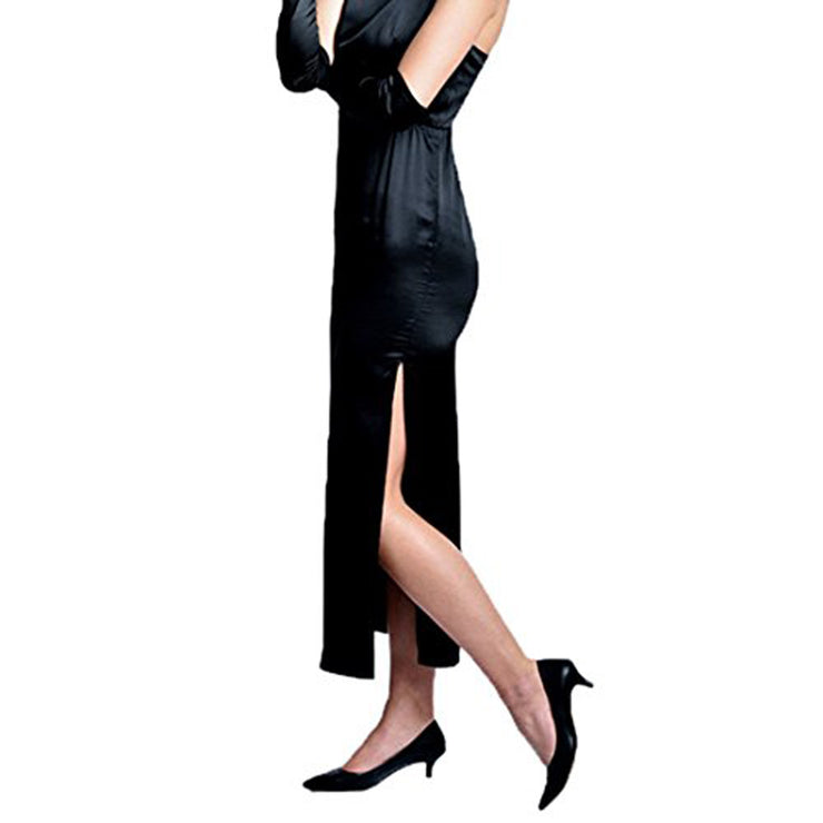 Holly Iconic Black Dress Costume Set In Satin Inspired By Breakfast At Tiffany's